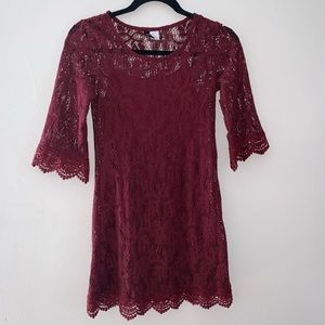 H&M Divided 3/4 Sleeve Lace Dress Size 2